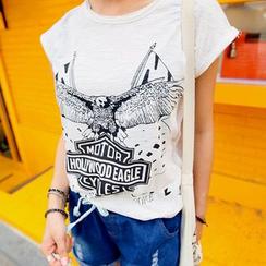 REDOPIN - Eagle Print T-Shirt