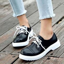 Mancienne - Contrast-Color Sneakers