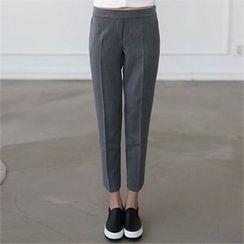 CHICFOX - Band-Waist Straight-Cut Pants