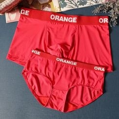 Paradise Isle - Couple Matching Lettering Boxers / Panties