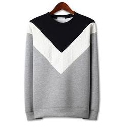 Seoul Homme - Color-Block Sweatshirt