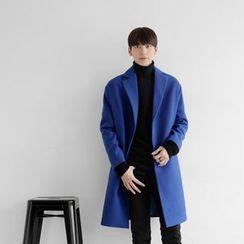 Seoul Homme - Wool-Blend Single-Breasted Coat