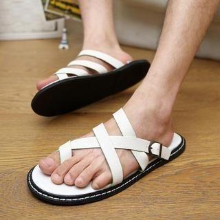 Noyo.Carr - Toe-Loop Cross Strap Sandals