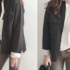 DAILY LOOK - Zip-Up Wool Blend Jacket