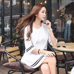 Envy Look - Set: Contrast-Trim Cropped Top + Mini Skirt