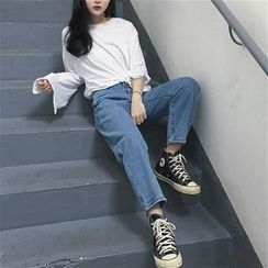 Anlay - Cropped Straight-Leg Jeans