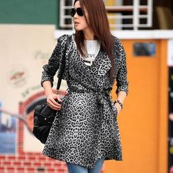 SO Central - Leopard Print Jacket with Sash