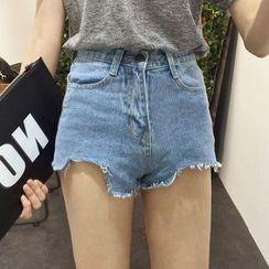 Glen Glam - Fray Denim Shorts