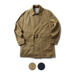 STYLEMAN - Belted Single-Breasted Trench Coat