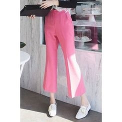 migunstyle - Flat-Front Boot-Cut Pants