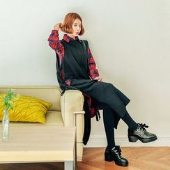 Seoul Fashion - Sleeveless Beribboned-Side Wool Blend Knit Top