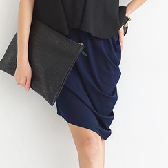 59 Seconds - Asymmetric Draped Pencil Skirt
