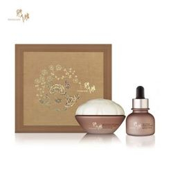 DONGINBI - CHO Red Ginseng Eye Care Set : Concentrated Moisturizing Eye Cream 25ml +  Brightening Eye Oil 20ml