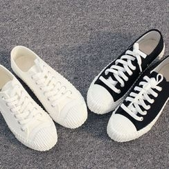DANI LOVE - Round-Toe Cotton Blend Sneakers