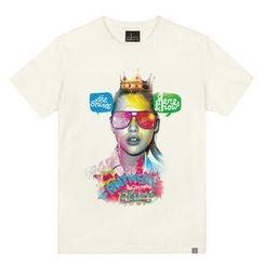 the shirts - Sunglasses Girl Print T-Shirt