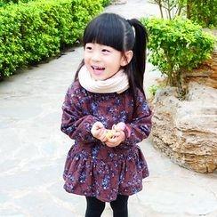 CUBS - Kids Floral Print Long-Sleeve Dress