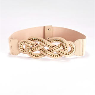 Moonbasa - Chain-Accent Elasticized Belt