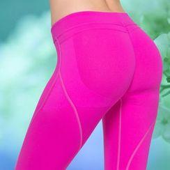 Chanson - 純色運動內搭褲