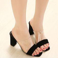 Anran - High Heel Slide Sandals