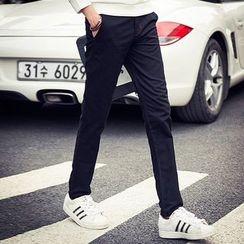 KANGI - Fleece-Lined Straight-Leg Pants