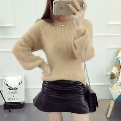 Emeline - Mock Neck Thick Sweater