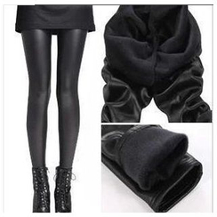 Hyoty - Fleece-Lined Faux Leather Leggings