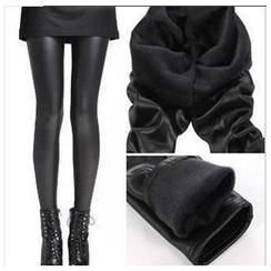 Hyoty - Fleece-Lined Faux Leather Leggings