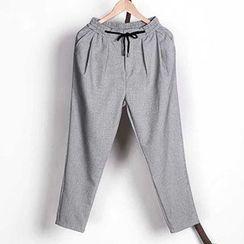 Mannmix - Drawstring Baggy Pants