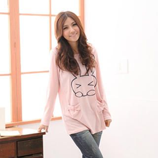 RingBear - 'Rabbit' Print Long Tee