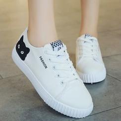 Yuki Yoru - Cat Print Sneakers