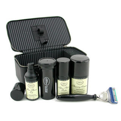 The Art Of Shaving - Shaving Kit  (Unscented): Razor+ Shaving Brush+ Pre-Shave Oil 30ml+ Shaving Cream 50ml+ A/S Balm 30ml+ Case