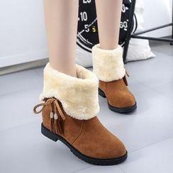 Pangmama - Tasseled Short Boots