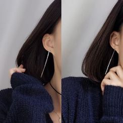 Calypso - Rhinestone Non-Matching Drop Earrings