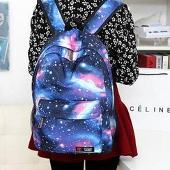 QeQ - Galaxy-Print Backpack