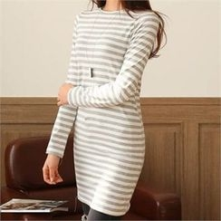 CHICFOX - Striped Mini T-Shirt Dress