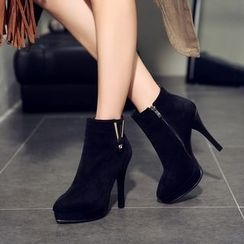 Pastel Pairs - Pointy High Heel Ankle Boots