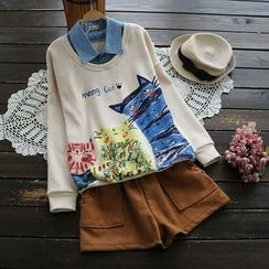 YOYO - 假两件套衫