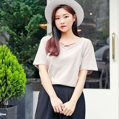 HOTPING - Cross-Strap Cotton Top