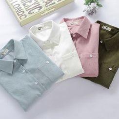 KAKAGA - 长袖灯芯绒衬衫