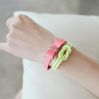 soo n soo - Braided Faux-Leather Bracelet