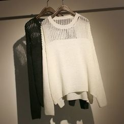 somniaa - 純色針織毛衣