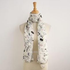 SO Central - High Heels and Hat Print Scarf