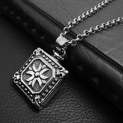 Andante - Square Tag Pendant Necklace