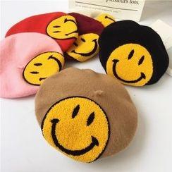 Pompabee - 毛呢貝蕾帽