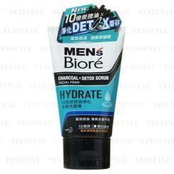 Kao - Biore Men's 10 x Charcoal Facial Foam (Hydrate)