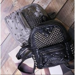 Coxchamp - Studded Faux Leather Backpack