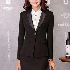 Princess Min - One-Button Blazer + Skirt