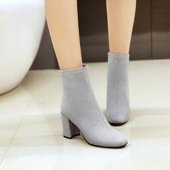 Pastel Pairs - Block Heel Short Boots