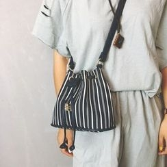 DAMENTO - Striped Bucket Bag