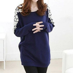 Rocho - Long-Sleeved Lace Inset Tunic